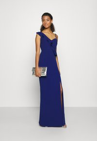 WAL G. - FRILL DETAIL DRESS - Vestido de fiesta - cobalt blue - 1