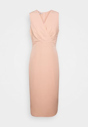 PEARL DETAIL DRESS - Cocktailjurk - peach