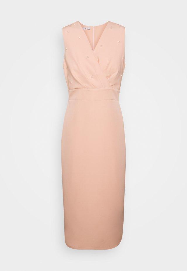 PEARL DETAIL DRESS - Sukienka koktajlowa - peach