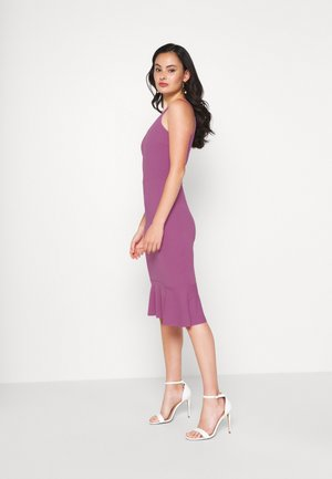 FRILL HEM MIDI DRESS - Cocktailjurk - mauve pink