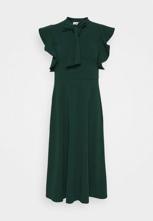 RUFFLE SLEEVE DRESS - Vestito elegante - forest green