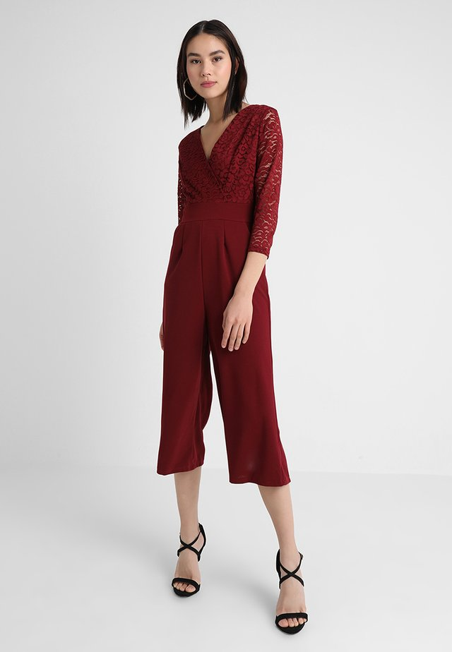 SLEEVE CULOTTE - Tuta jumpsuit - bordeaux