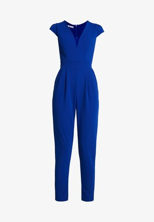 SHORT SLEEVE V NECK - Haalari - blue