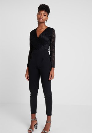 LONG SLEEVE V NECK - Jumpsuit - black