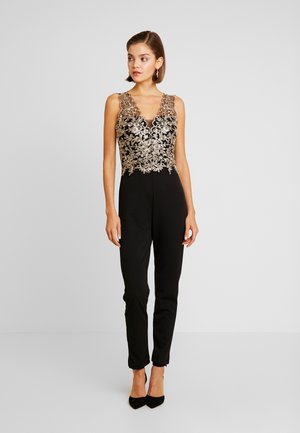 Overall / Jumpsuit - gold/black