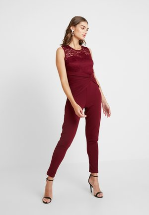 ROUND NECK KNOT - Jumpsuit - wine