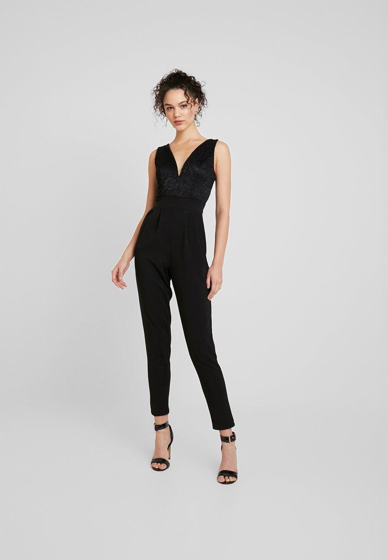 WAL G. - V NECK PLUNGE - Jumpsuit - black