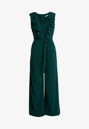 FRILL V NECK PLUNGE COULLOTES - Haalari - forest green
