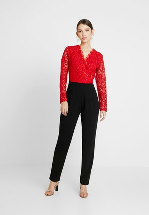 Jumpsuit - red/black