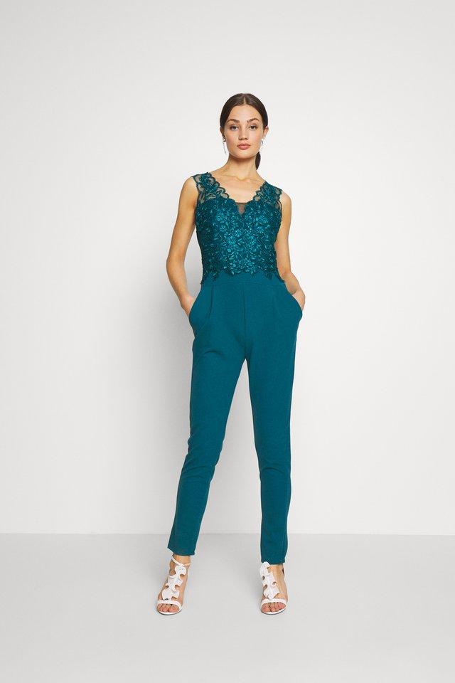 Jumpsuit - teal blue