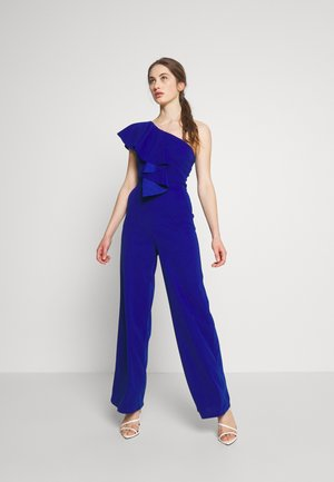 ONE SHOULDER FRILL - Mono - electric blue