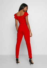 WAL G. - OFF THE SHOULDER MAXI JUMPSUIT - Combinaison - red - 2