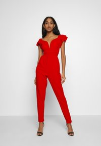 WAL G. - OFF THE SHOULDER MAXI JUMPSUIT - Combinaison - red - 1