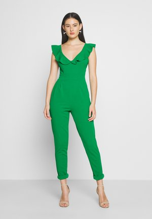 FRILL NECK - Jumpsuit - green