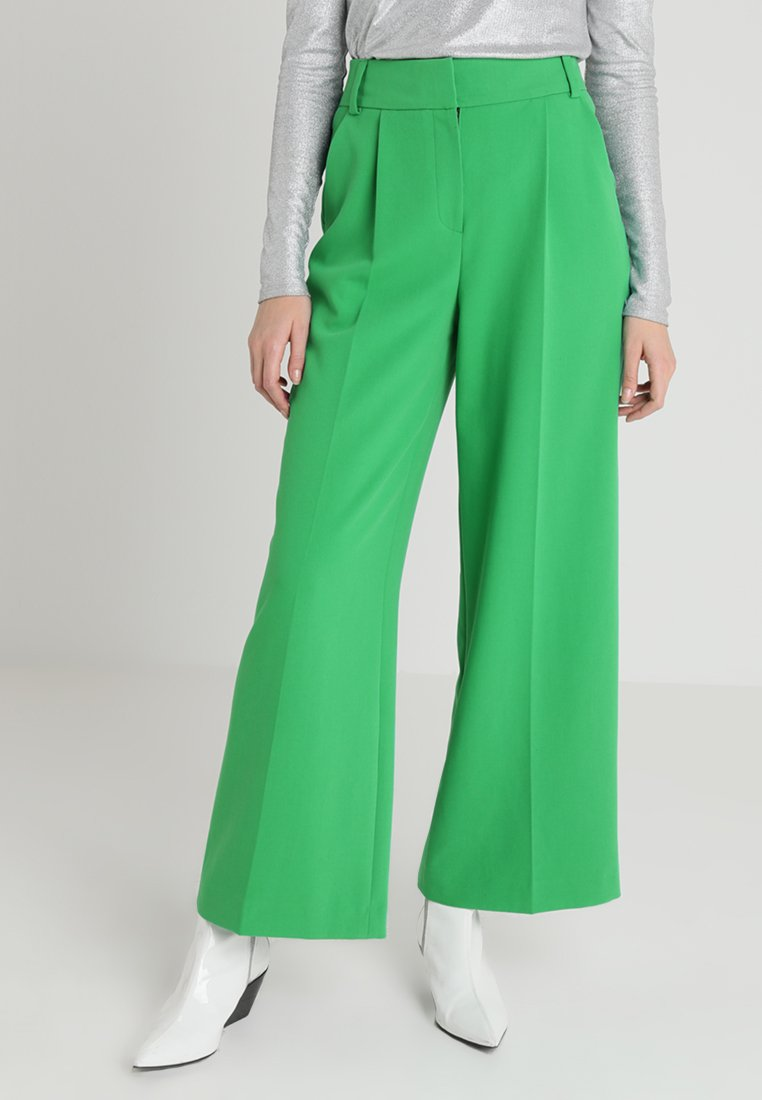 Whistles - ASH FULL LEG TROUSER - Trousers - green