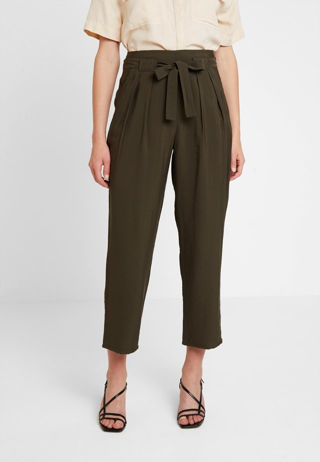 RUTH WRAP FRONT CASUAL TROUSER - Bukse - khaki