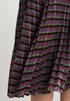 Whistles - SPARKLE STRIPE PLEATED SKIRT - A-Linien-Rock - multicolour