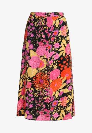 LUELLA BLOOM BUTTON SKIRT - A-line skirt - orange