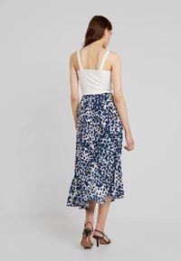 Whistles - BRUSHED LEOPARD WRAP SKIRT - Wrap skirt - blue/multi - 2