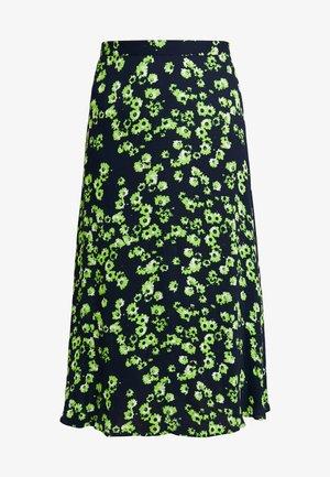 DAISY PRINT SKIRT - Maxi skirt - navy/multi