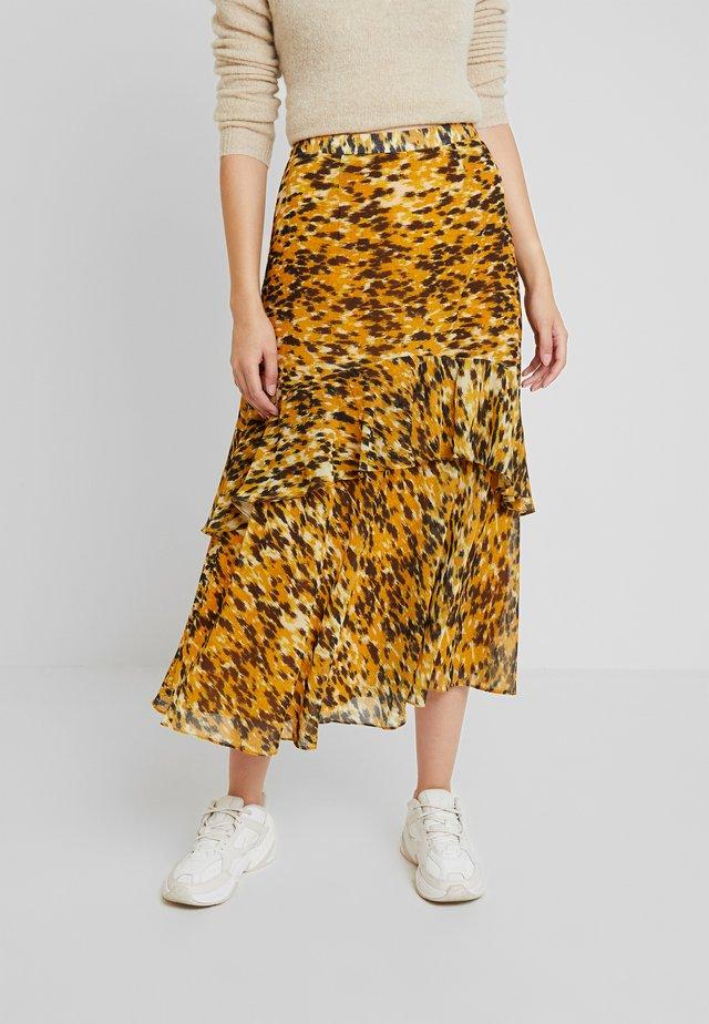 IKAT ANIMAL NORA SKIRT - A-line skirt - yellow/multi