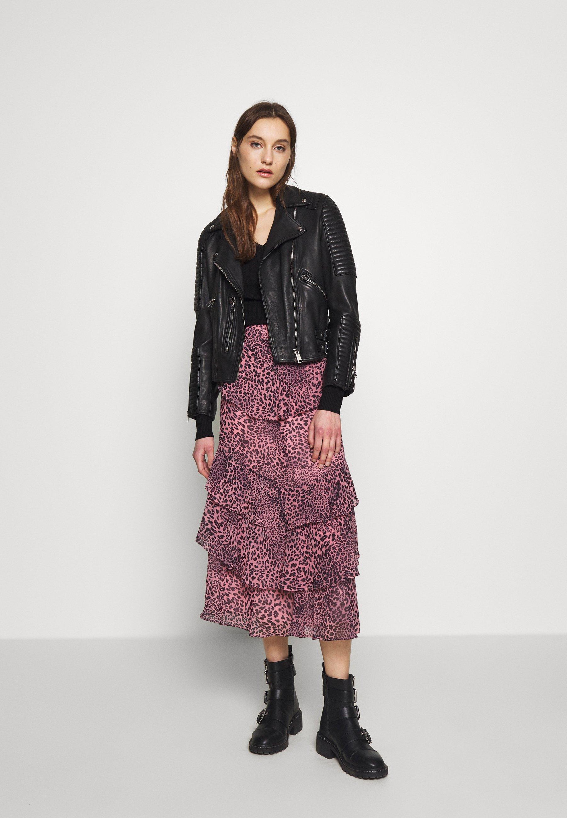 Whistles Wild Cat Skirt - A-linjekjol Pink Multi