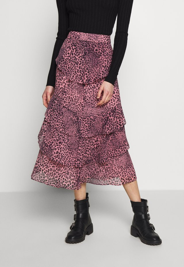 WILD CAT SKIRT - A-Linien-Rock - pink multi