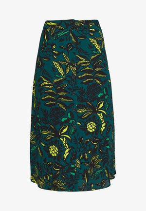 ASSORTED LEAVES PRINT SKIRT - Gonna a campana - green/neon yellow
