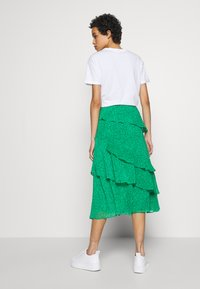 Whistles - SKETCHED FLORAL TIERED SKIRT - A-line skirt - green - 2