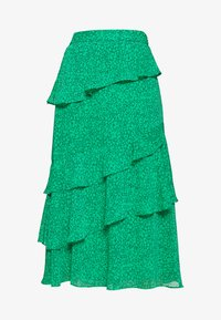 Whistles - SKETCHED FLORAL TIERED SKIRT - A-line skirt - green - 3