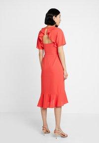Whistles - ABIGAIL FRILL WRAP DRESS - Day dress - flamingo - 3