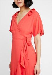 Whistles - ABIGAIL FRILL WRAP DRESS - Day dress - flamingo - 5