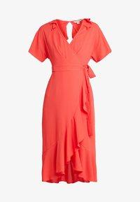 Whistles - ABIGAIL FRILL WRAP DRESS - Day dress - flamingo - 4