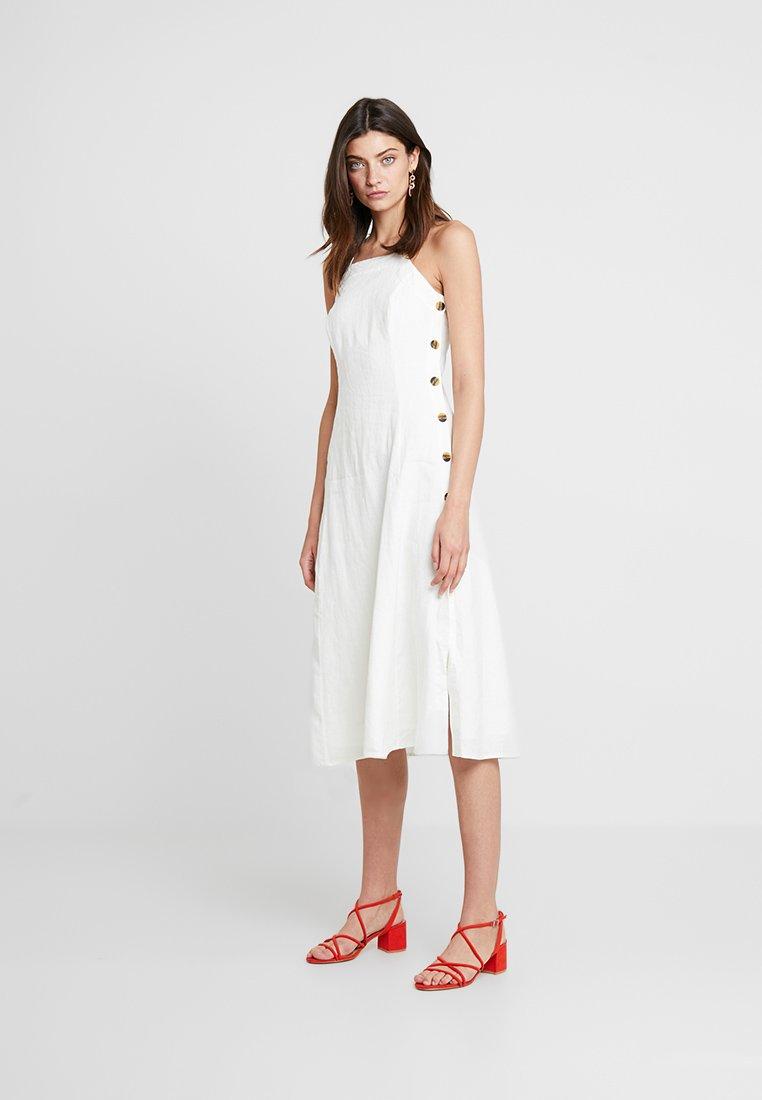 Whistles - NINA BUTTON APRON DRESS - Day dress - white