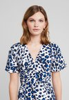 Whistles - BRUSHED LEOPARD BUTTONDRESS - Maxikjole - white