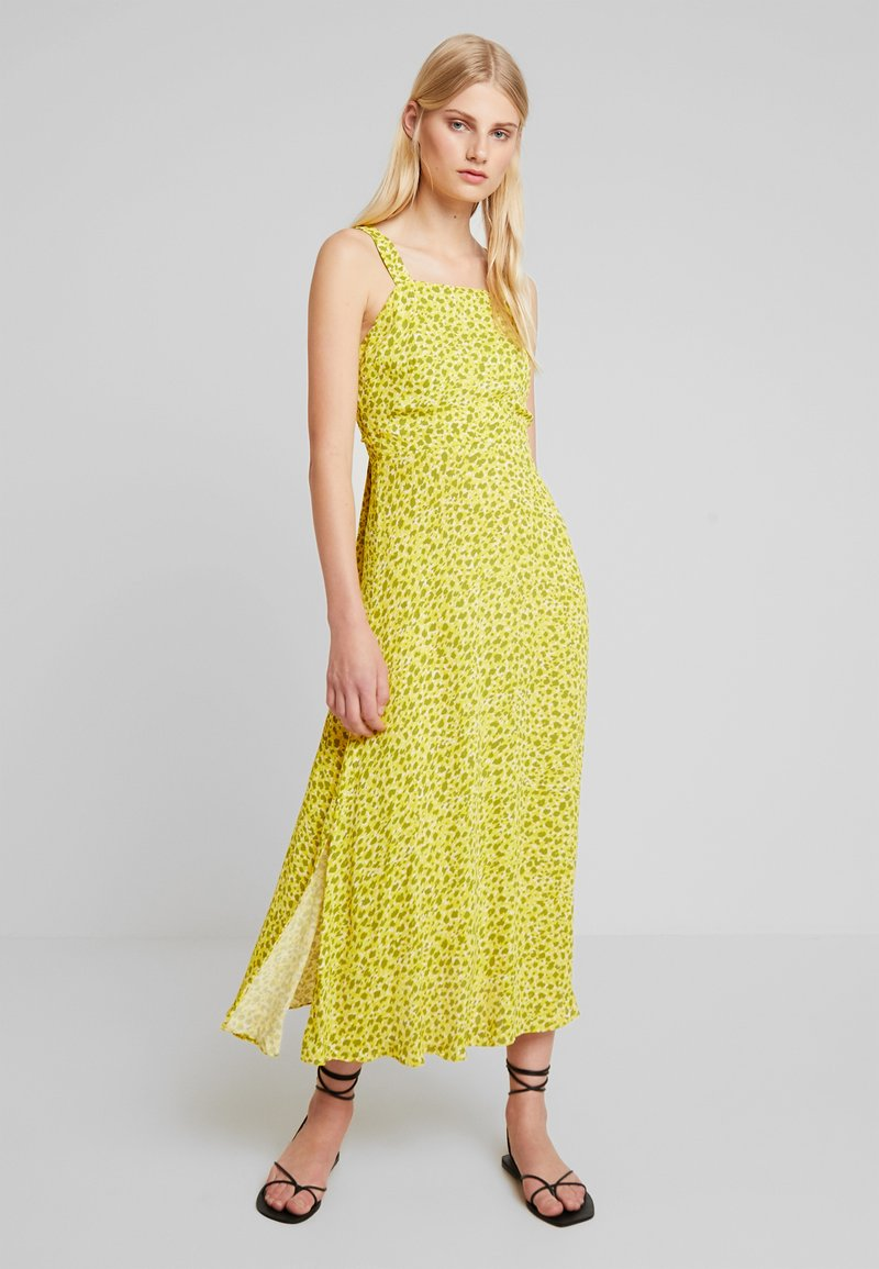 Whistles - LLORA CLOUDED LEOPARD DRESS - Maxikleid - yellow/multi