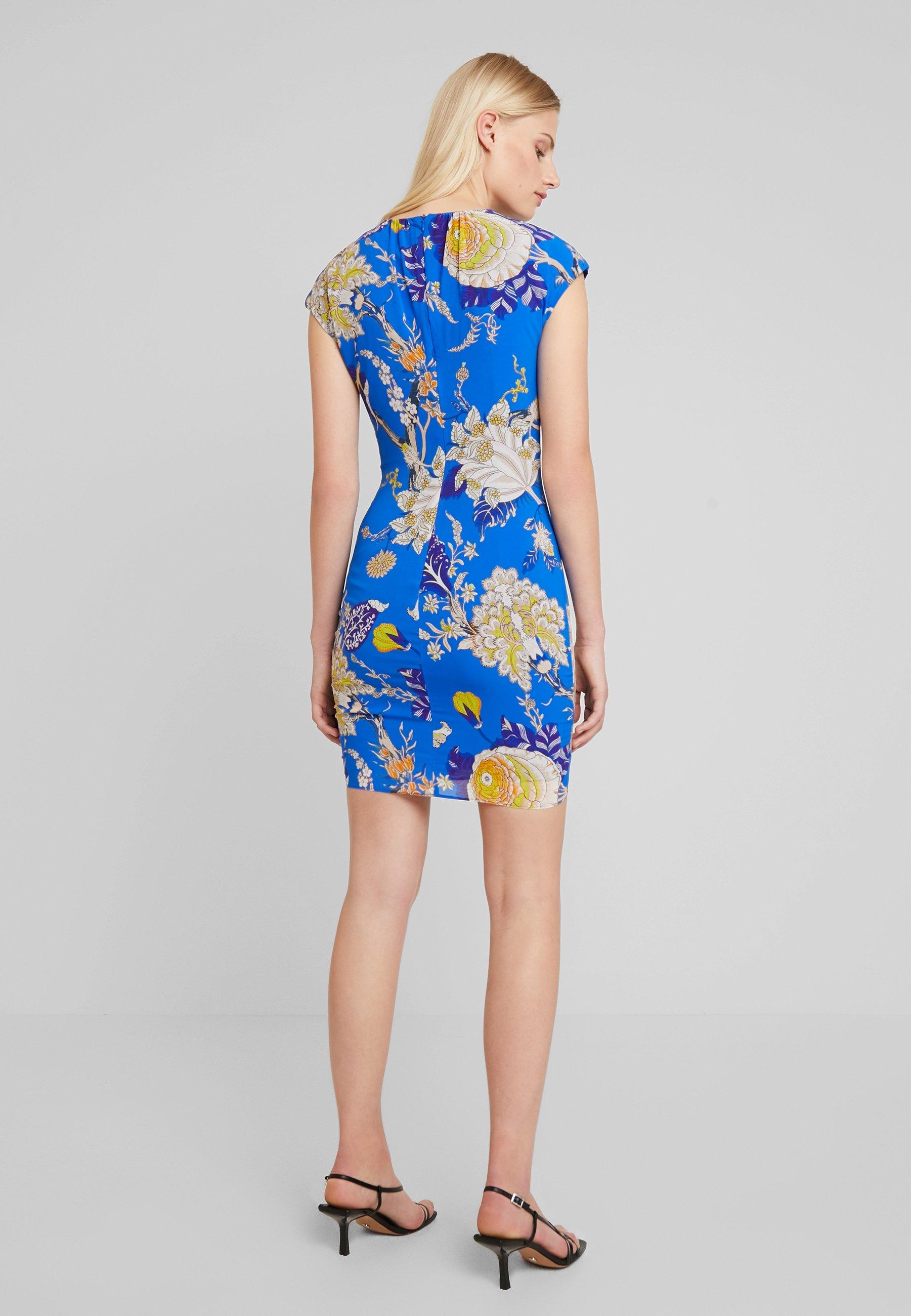 Bodycon Blue multi De Exotic Floral Whistles DressRobe Soirée nPk8OX0w