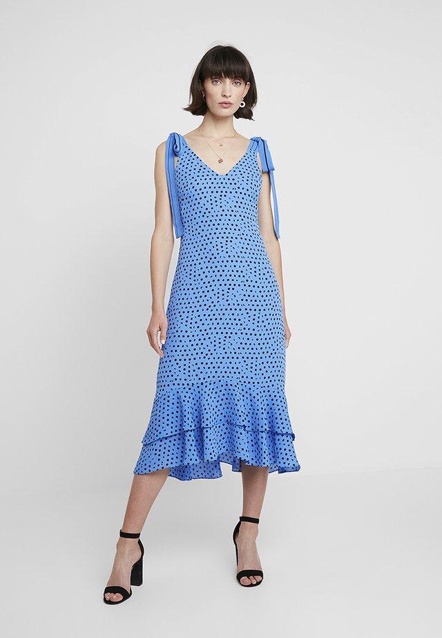 LUNA SPOT TIE SHOULDER DRESS - Długa sukienka - blue