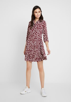 AGATA ILLUSTRATED FLOWERDRESS - Shirt dress - burgundy