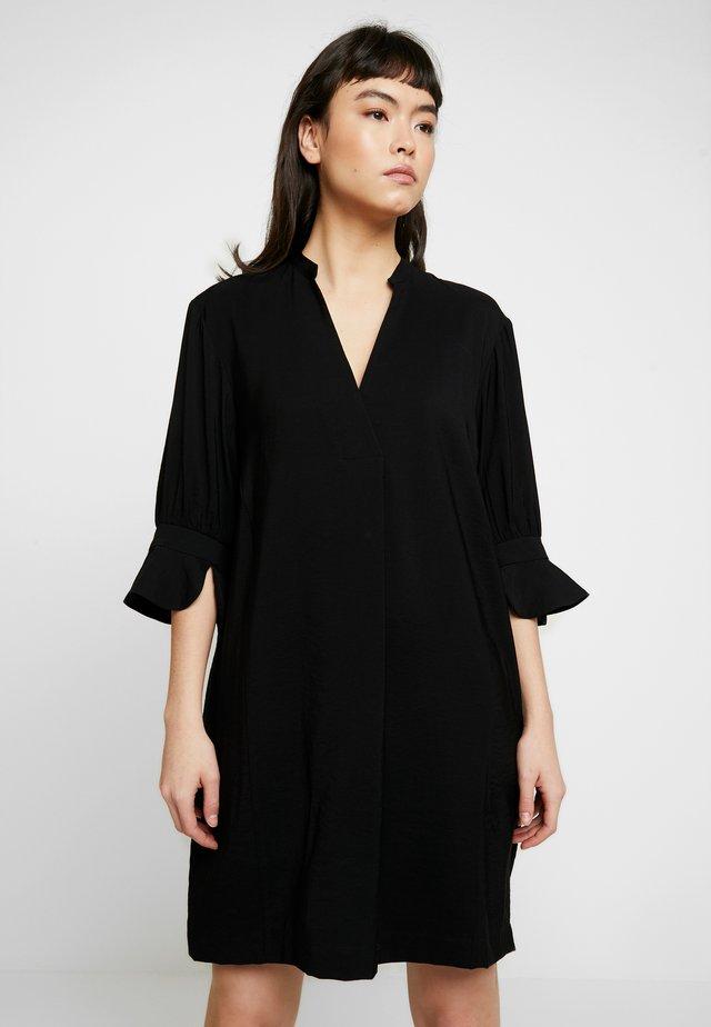 SONIA FRILL SLEEVE DRESS - Korte jurk - black