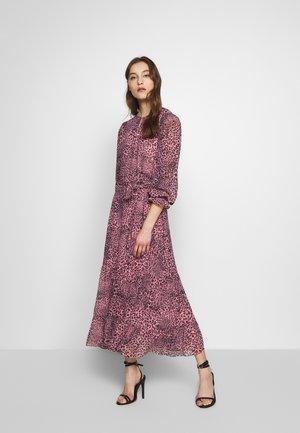 WILD CAT STRIPE TIERED DRESS - Maxi dress - pink/black