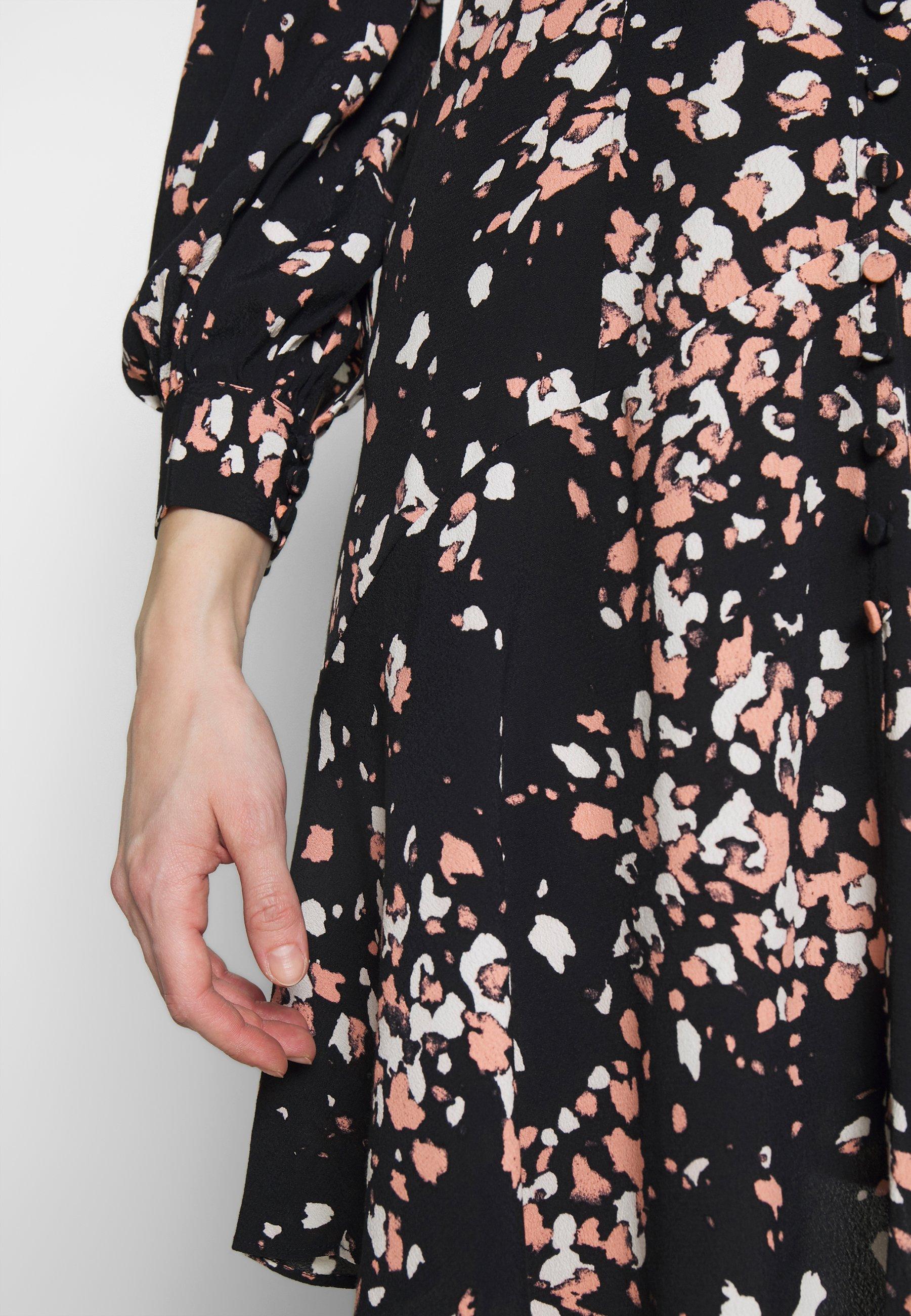 Whistles MOTTLED ANIMAL BUTTON FRONT DRESS - Sukienka letnia - pink/multi