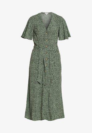 ANITA SPOTTED FRILL SLEEVE DRESS - Blusenkleid - green/multi