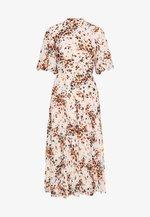 PLEATED DRESS - Day dress - cream/mult