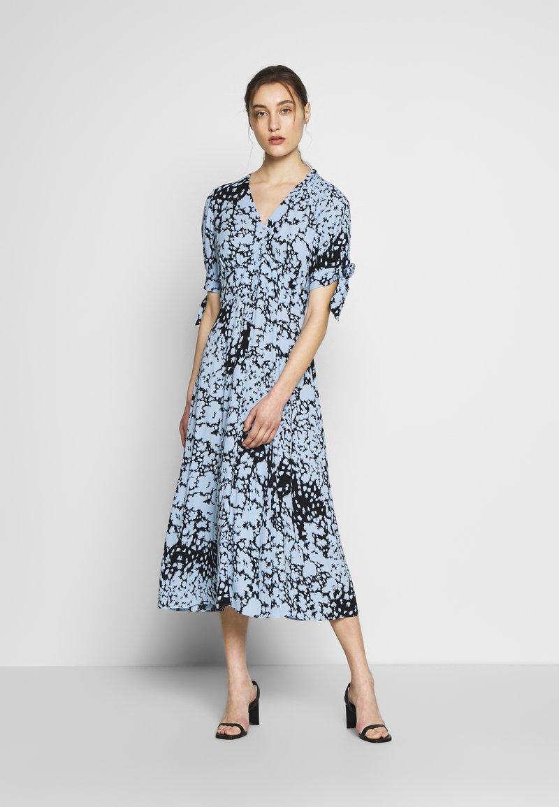 Whistles - NEAVE ANIMAL DRESS - Shirt dress - blue/multi