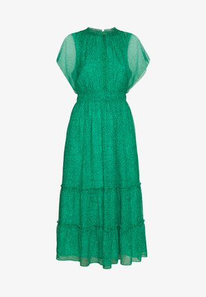 SKETCHED FLORAL FRILL SLEEVE DRESS - Robe d'été - green/multi