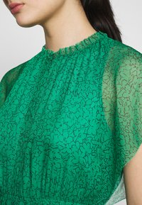 Whistles - SKETCHED FLORAL FRILL SLEEVE DRESS - Day dress - green/multi - 5