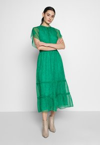Whistles - SKETCHED FLORAL FRILL SLEEVE DRESS - Day dress - green/multi - 1