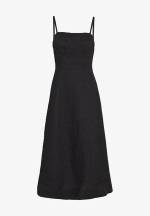 TIE FRONT STRAPPY DRESS - Kjole - black