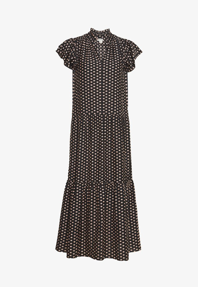 ELEPHANT PRINT MIDI DRESS - Freizeitkleid - black